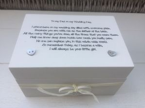 Shabby Personalised Chic Special Father Of The Bride Gift Keepsake Box Wedding